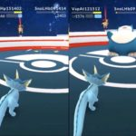 【ポケモンGO動画】シャワーズのゲージ技アクアテールも実は当たり技!?カビゴン戦で検証