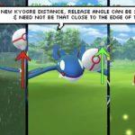 【ポケモンGO】アプデ前後のカイオーガゲットチャレンジを比較!ボールを投げる角度に注意《動画》