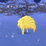 【ポケモンGO】雪景色の中キュウコンソロ撃破の勇者が再び登場!続々と続きそう!!