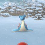 【ポケモンGO】ラプラスが雪が降る内陸地で野生湧き!天気ブーストの恩恵が大きすぎる!?